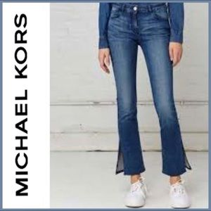 MICHAEL KORS Cropped Jeans with Side Slit